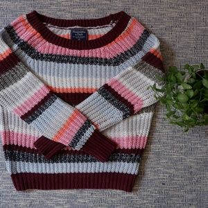 Abercrombie & FItch |  stripped sweater